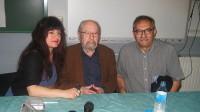 El poeta Caballero Bonald, con los jóvenes de Vallecas