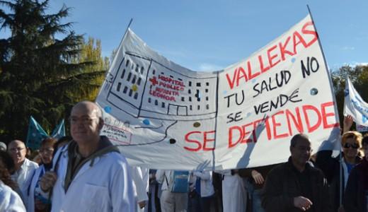 Manifestación en Vallecas contra la privatización de la Sanidad